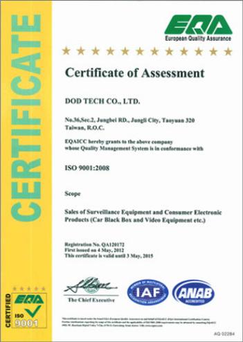 ISO-Zertifikat dod Tech