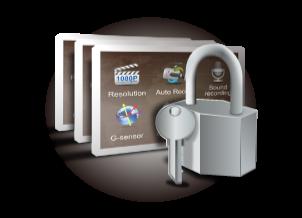 ls500w ochrana heslom