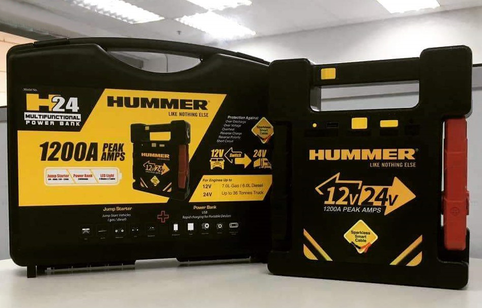 jumper starter Hummer H24 for trucks and vehicles up to 36 tons